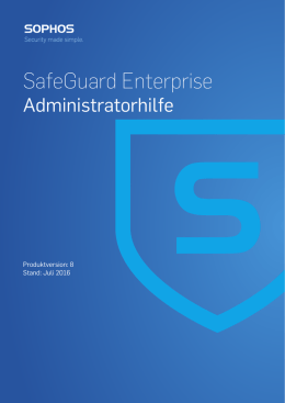 SafeGuard Enterprise Administratorhilfe