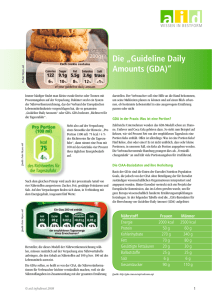 "Die ""Guideline Daily Amounts (GDA)"""