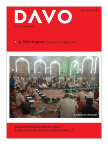 Mitgliedern / Habilitations and Dissertations of DAVO Members