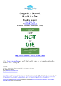 How Not to Die - Michael Greger / Gene Stone