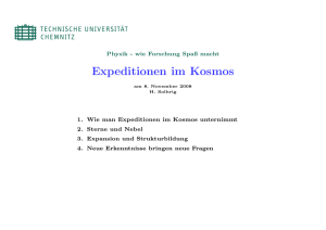 Expeditionen im Kosmos