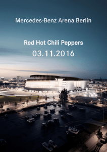 Mercedes-Benz Arena Berlin Red Hot Chili Peppers