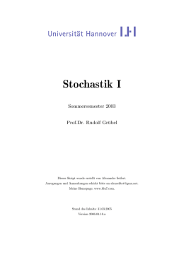 Stochastik I - Blu7 Homepage