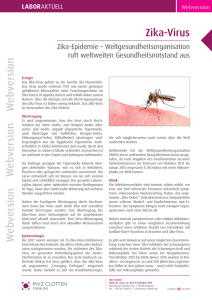 Zika-Virus - Labor Clotten