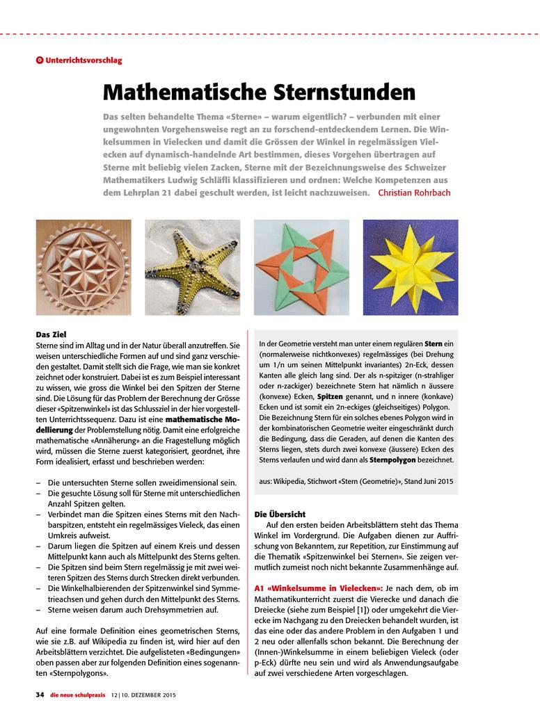 Mathematische Sternstunden