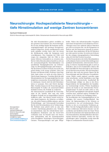 Neurochirurgie - Swiss Medical Forum