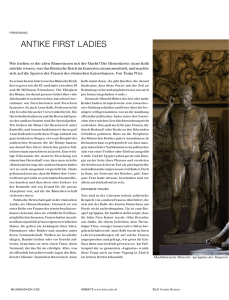 antike first ladies - UZH News