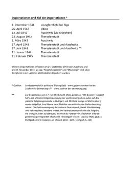 Arbeitsblatt Verfolgung für Lehrer/-innen