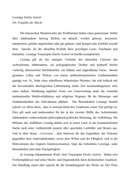 lemilia galotti di lessing - Literarische Erorterung Beispiel