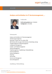 Analyse und Architektur im IT-Servicemanagement - expert