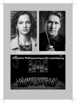 Joshua Weilerstein Hilary Hahn Orchestre Philharmonique du