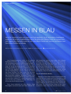messen in blau - Micro
