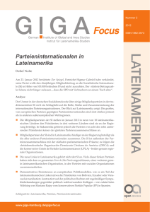 Parteieninternationalen in Lateinamerika
