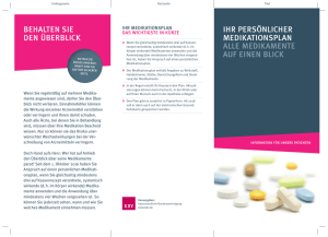 Flyer zum Medikationsplan