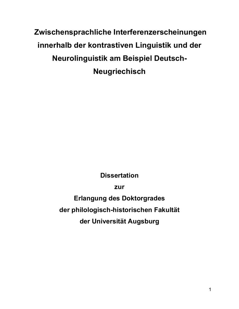 Zwischensprachliche Interferenzerscheinungen - POETRY