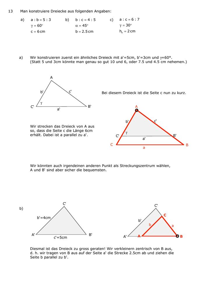 Wunderbar ähnliche Dreiecke Und Proportionen Arbeitsblatt Fotos ...