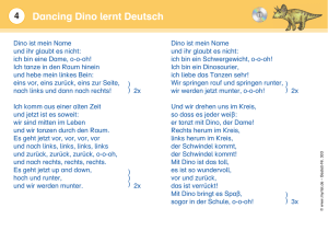 Dancing Dino lernt Deutsch