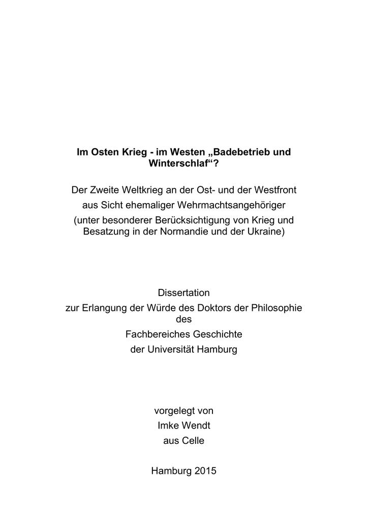 """Im Osten Krieg - im Westen """"Badebetrieb und Winterschlaf""""? Der"""