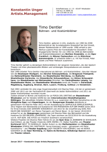Timo Dentler - Konstantin Unger Artists.Management