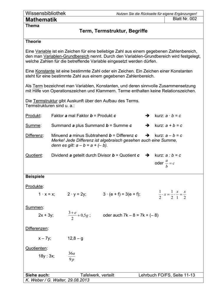 Produkt mathe begriffe