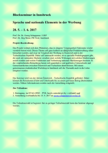Blockseminar in Innsbruck Sprache und nationale