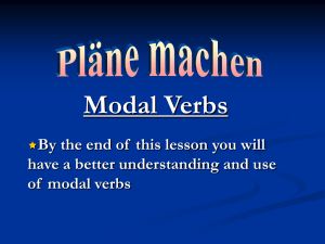 Modal verbs - making plans