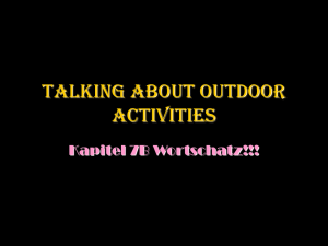 Talking about Outdoor Activities