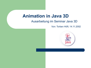 Animation in Java 3D