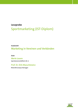Sportmarketing (IST-Diplom) - IST