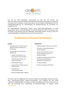 Praktikant/in im Business Development gesucht!