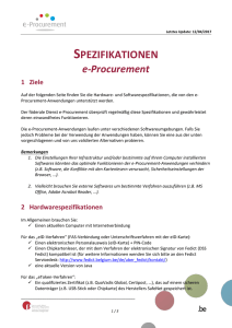 spezifikationen - Public Procurement