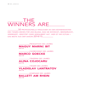 WINNERS ARE - flamencos en route