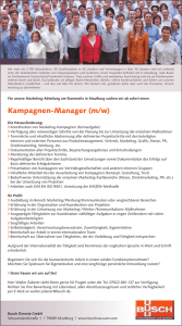 Kampagnen-Manager (m/w)