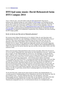 IFFI had some music: David Hebenstreit beim IFFI Campus 2014