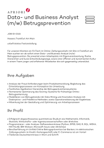 Data- und Business Analyst (m/w) Betrugsprevention
