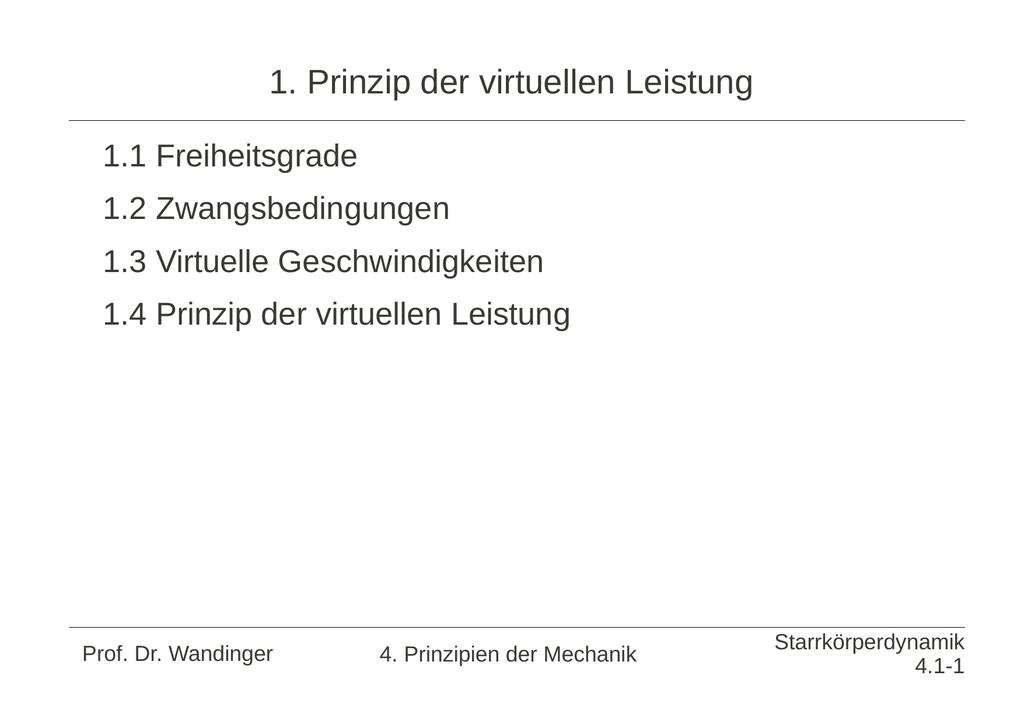 D Alembertsches Prinzip
