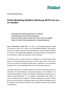 Online-Marketing-Plattform Werbung AKTIV mit neu