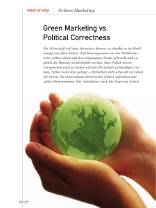 Green Marketing vs. Political Correctness