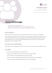 Online-PR-Strategie