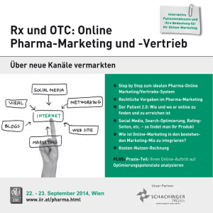 Rx und OTC: Online Pharma-Marketing und