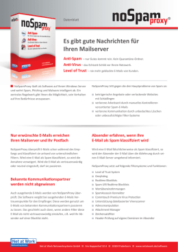 NoSpamProxy Datenblatt - ConnecT Informationstechnik GmbH