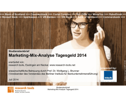 Marketing-Mix-Analyse Tagesgeld 2014