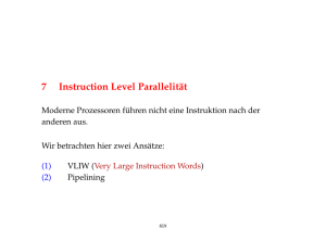 7 Instruction Level Parallelität