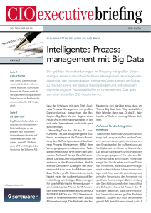 Intelligentes Prozess management mit Big Data