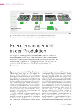 Energiemanagement in der Produktion