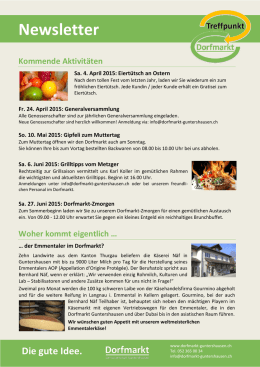 Newsletter - Dorfmarkt Guntershausen