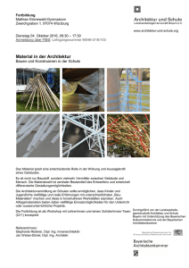 Material in der Architektur
