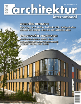 Pressebericht ArchitekturInternational/Aug.2014