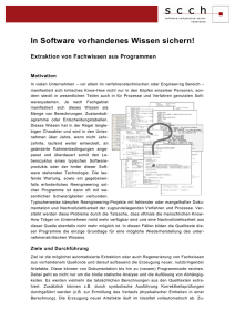 Folder zum Thema Codeanalyse - Software Competence Center