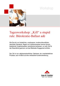 "Workshop: ""Kill"" a stupid rule"
